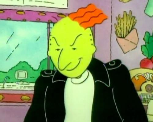 "Our favorite green-skinned troublemaker, Roger Klotz from ""Doug""!"