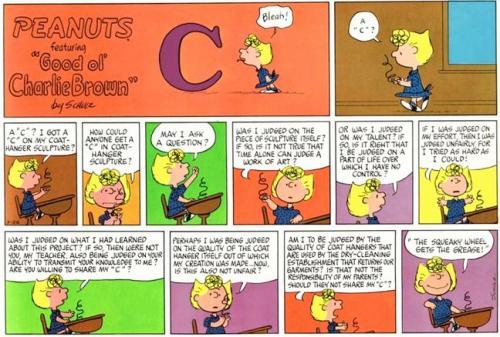 "Gotta love the ""Peanuts"" comic!"